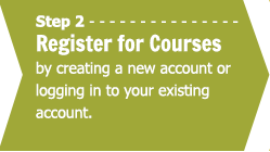 Step 2 - Register for Courses by creating a new account or logging in to your existing account.
